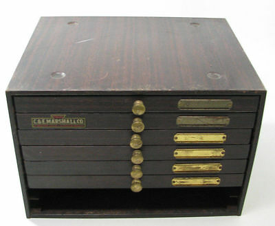 vintage metal parts cabinet drawers watch watchmaker storage C. & E. Marshall Co