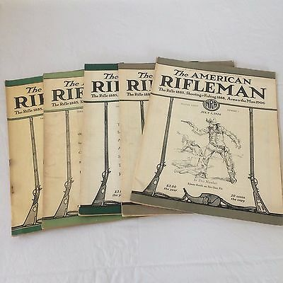 The American Rifleman Vintage Lot of 5 1923-1926 NRA