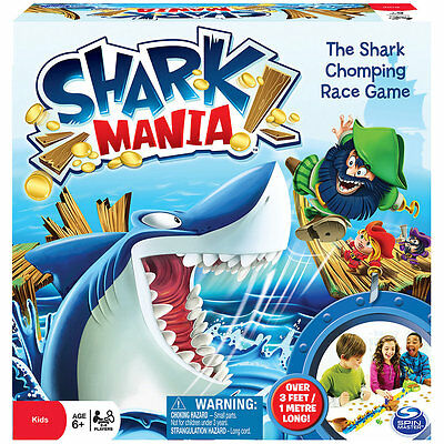 Shark Mania, Fun Family Kids Party Board Game