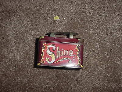 VINTAGE 1970s 80s TIN SHOE SHINE BOX NEW OLD STOCK NOS