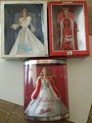 Holiday visions barbie, collectors ed. 2000 barbie, holiday celebration barbie
