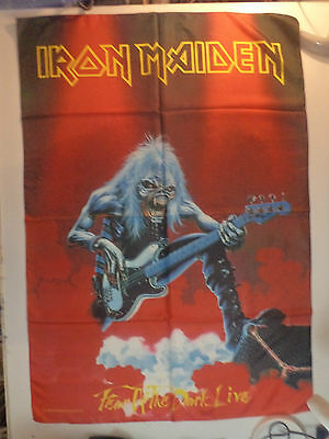 Vintage IRON MAIDEN  Unused 1993 TEXTILE POSTER FLAG heavy metal ozzy lp t shirt