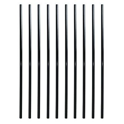 ALEKO Round Pipe Tube Design 32 Inch Black Powder Coated Baluster Pack Of 10