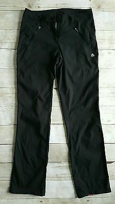 Women craghoppers stretch black walking trousers size UK8