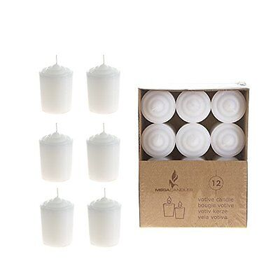 Votive Candles Mega Candles - Unscented 15 Hours Votive Candles - White, Set of