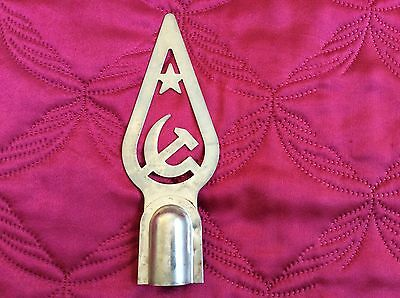 USSR Soviet Russian Sickle Hammer Star Metal Top for Flags