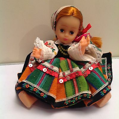 Traditional National Dressed Polish? Child Doll Excellent Condition