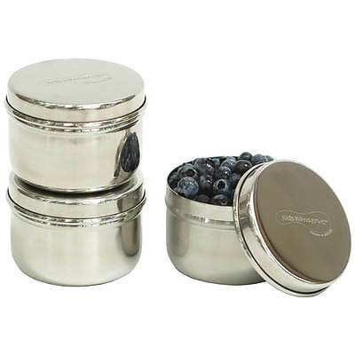 Kids Konserve - Mini Stainless Steel Lunch Box Containers - Set of 3