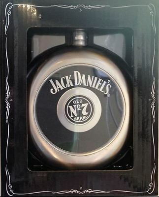 Jack Daniel's Circular Flask With Removable Centre Shot Glass 8508Jd