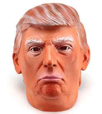 DONALD TRUMP Latex Mask, Halloween, Overhead Funny Republican Party Apprentice