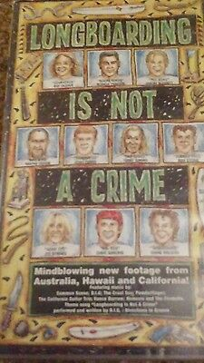 LONGBOARDING IS NOT A CRIME Surfing VHS PAL Video