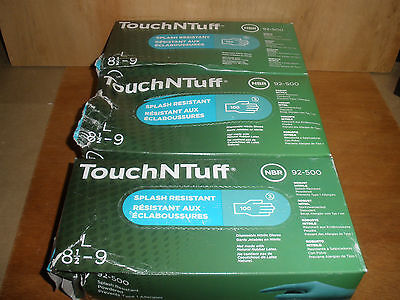 Three boxes NEW Ansell Touch N Tuff 92-500 nitrile powdered size Large 100/box