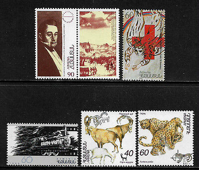 Armenia 525, 528, 529 and 530-1 Mint Never Hinged Stamps