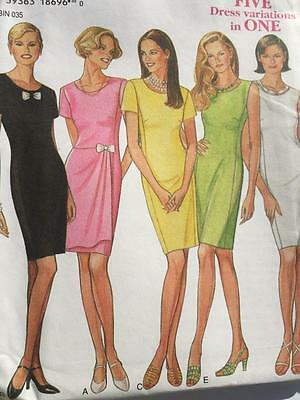 New Look Sewing Pattern 6466 Misses Ladies Dress Size 8-18 Uncut