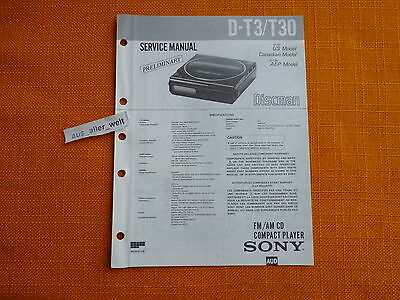 SERVICE MANUAL SONY D T3 T30 english Service Anleitung preliminary