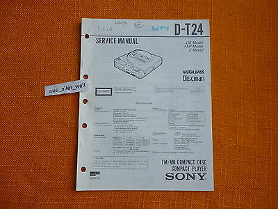 SERVICE MANUAL SONY D T24 english Service Anleitung
