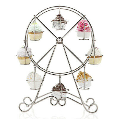 Unique 8-Cup Stainless Steel Rotating Ferris Wheel Cupcake Stand