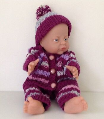Dolls Hand Knitted Outfit to fit Baby Doll 15/18 inch