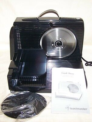 Toastmaster Black Meat Cheese Food Slicer TMFS2B