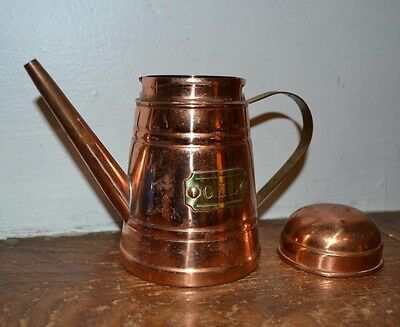 Imported Handcrafted COPPER and BRASS Old Dutch Design Oil Can