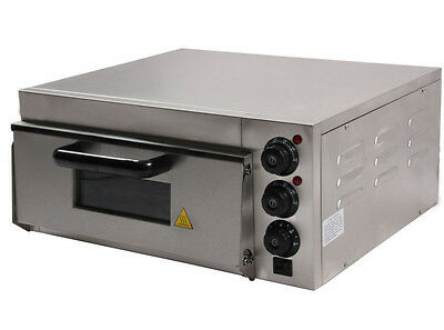 Single Deck Stone Stainless Front Electric Commercial Baking Outdoor Pizza Oven