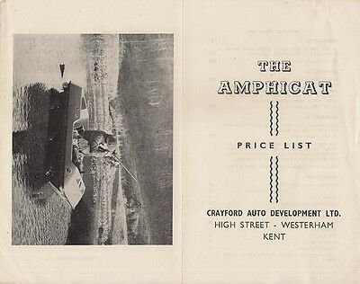 Crayford Amphicat Prices & Options c 1971 UK Market Foldout Brochure 12 16 20