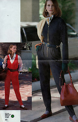 Sewing Pattern Vogue Sport 8125  Womens Jumpsuit Stirrups Sz. 14-16-18 Uncut