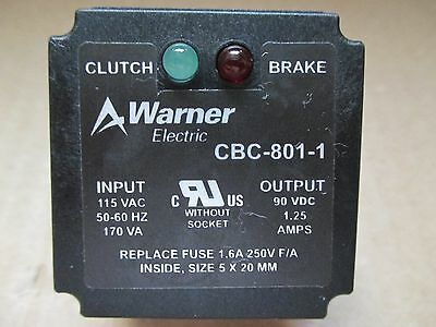 Warner Electric CBC-801-1 CLUTCH BRAKE CONTROL RELAY