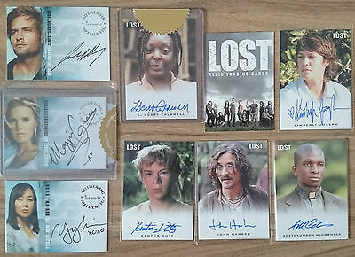 LOST TV Series Premium Relics S1 S2 Autograph Trading Card Rittenhouse Inkworks