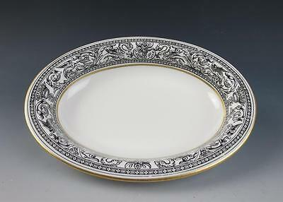 Wedgwood FLORENTINE Black Oval Vegetable Bowl W4312 Porcelain Dragons England