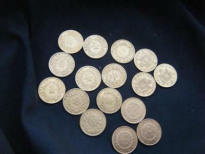 Lot De 16 Pieces 20 Francs Or Napoleon