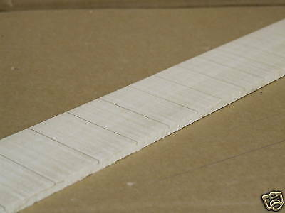 """Guitar  Fingerboard  Maple  Slotted 25.5""""  Scale   21 Fret Slots"""