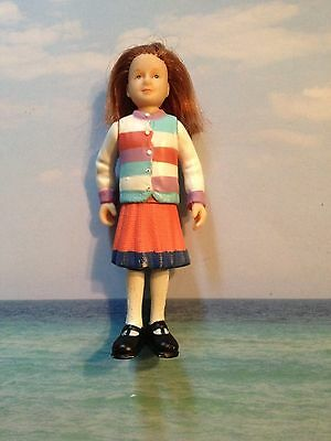 Fisher Price Sweet Streets Figure Replacement  Girl Daughter W Real Hair