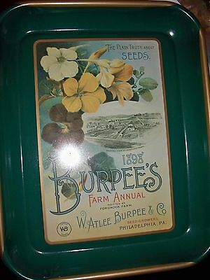 Vintage Reproduction, Metal Tray, Burpee Seeds