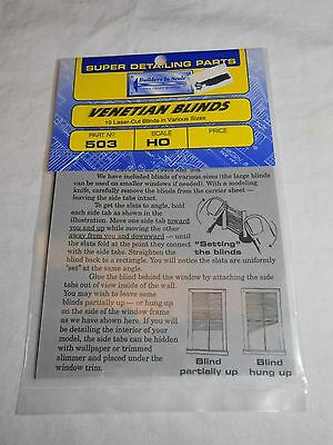 Ho Train Builders In Scale Super Detailing Parts Venetian Blinds New In Pkg!
