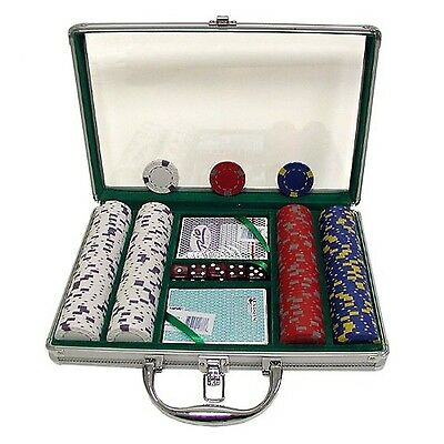 Trademark Poker 200 Chip Pro Clay Casino Chips with Clear Cover Aluminum Case...