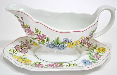 Spode - Romany - Gravy Boat And Underplate