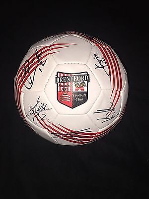 Squad Signed Brentford Official Football Size 5 2015/2016 Season