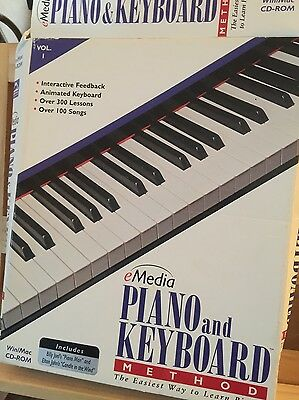 eMedia Piano and Keyboard Method Volume 1 CDROM PC / Mac - retro software