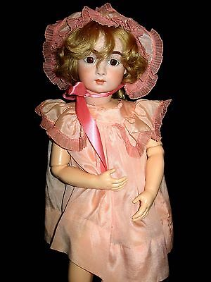"""ANTIQUE BISQUE DEPOSE Reproduction doll  Unknown author 25"""""""