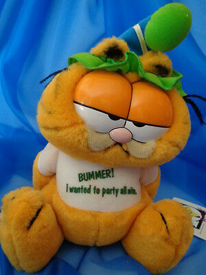 """Vintage 10"""" Garfield Bummer Year Of The Party Plush Toy Dankin 1978 1981 Usa"""