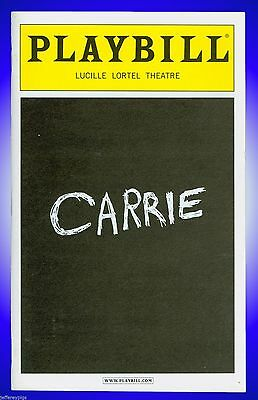Playbill + Carrie + Molly Ranson , Marin Mazzie , Christy Altomare , Elly Noble