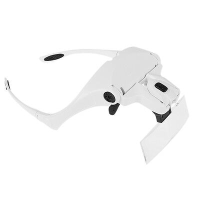 Head Magnifier LED Lights  Magnifying glass hands free Dual multi-lens with Lamp