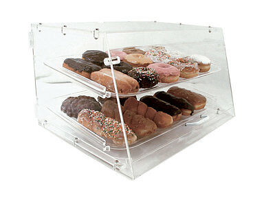 Update APB-2112FD Pastry Display Case w/ 2 Trays 6mm Clear Acrylic