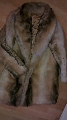 Ladies vintage Astraka faux fur coyote wolf fur jacket 10/12 med used