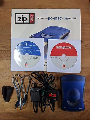 iomega ZIP 250 portable drive boxed, used, tested.