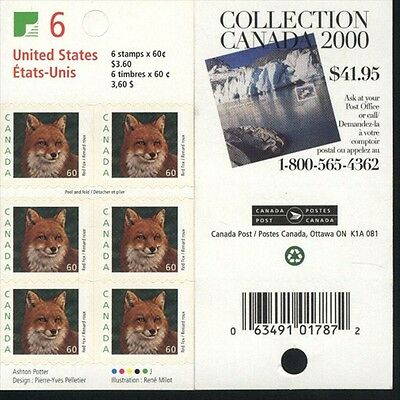 Canada Sc 1879 Bk 238a Red Fox, United States, Value $ 16.00