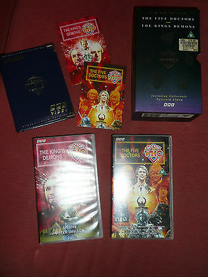 Doctor Who The Five Doctors/The Kings Demons - Full Special Edition VHS Box Set