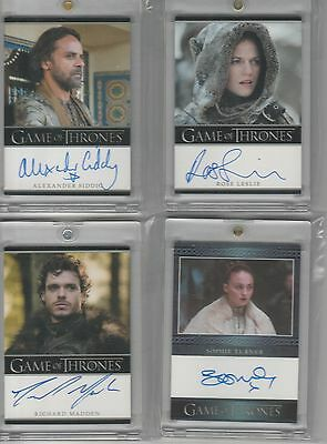 Game Of Thrones Season 1 Auto Richard Madden Bordered Autograph