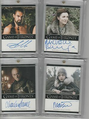 Game Of Thrones Season 1 Auto Jason Momoa Bordered Autograph